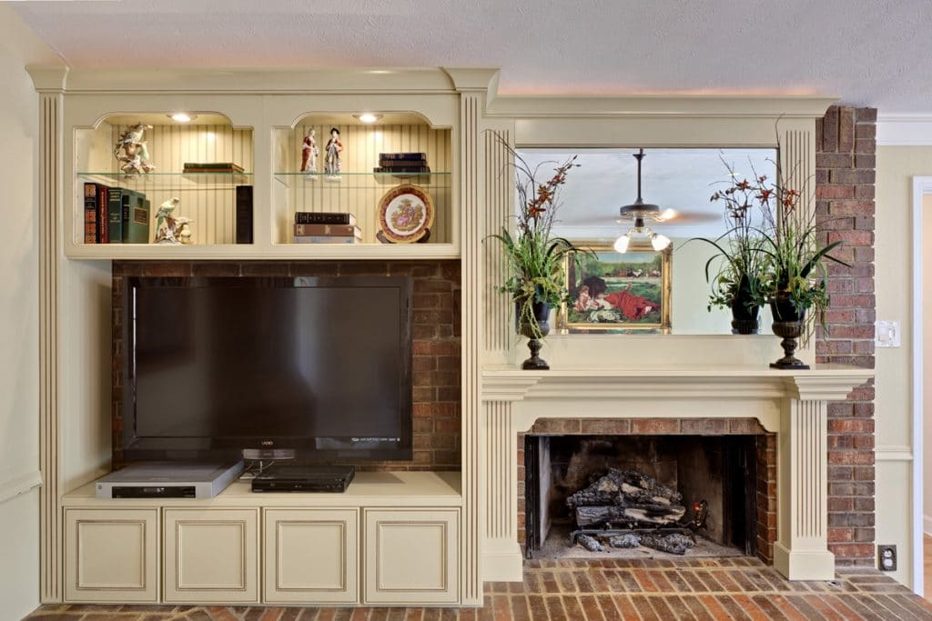 Fireplace remodeling and television room remodeling